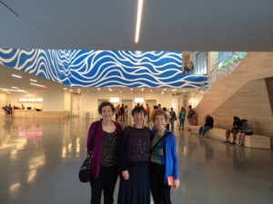 "Elise with Helene and Marilyn (the ""Proust"" readers) at SFMOMA."